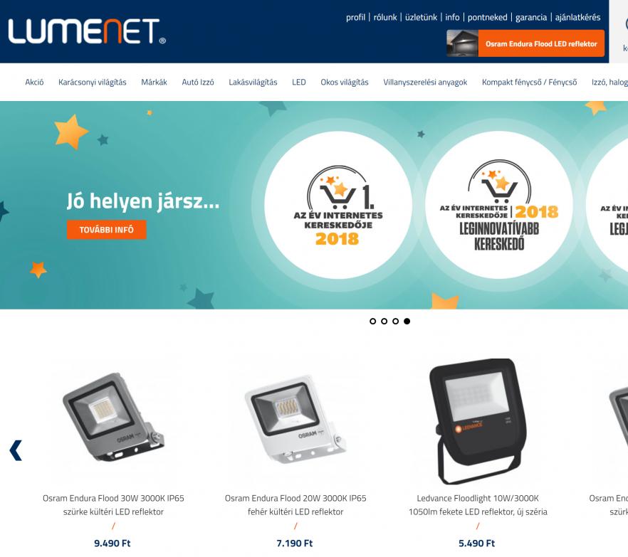 bfdb94078e A világítás itt kezdődik: Lumenet®- Az Év honlapja 2019