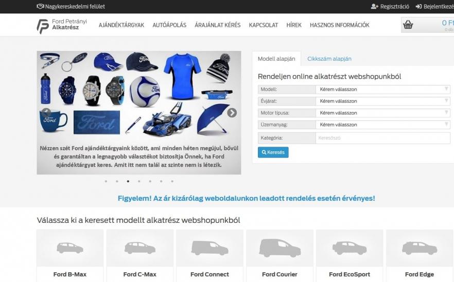 b67a50dd49 Ford Petrányi alkatrész webshop- Az Év honlapja 2019