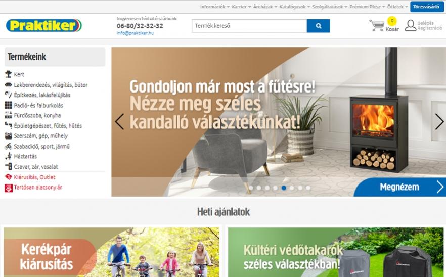 aebfa794bf Praktiker Webshop- Az Év honlapja 2019