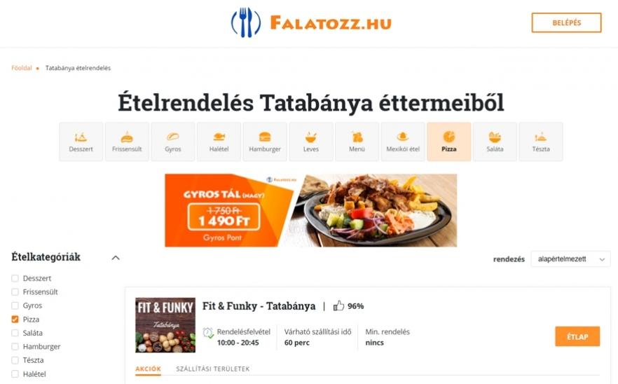 94ecf3ee5f Falatozz.hu ételrendelés- Az Év honlapja 2019